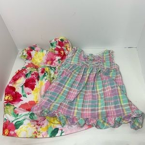 Ralph Lauren 18 mo lot of two spring dresses
